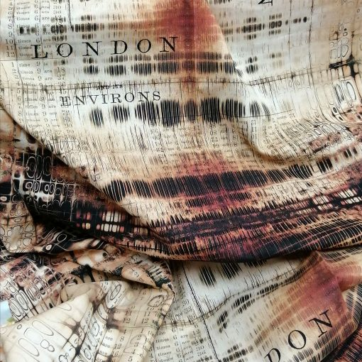 Tela de patchwork americano, Gridlock, Tim Holtz, abandoned