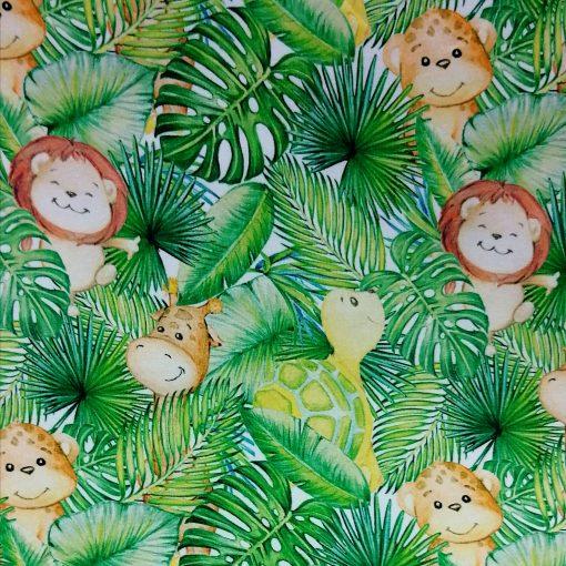 tela de punto animales selva