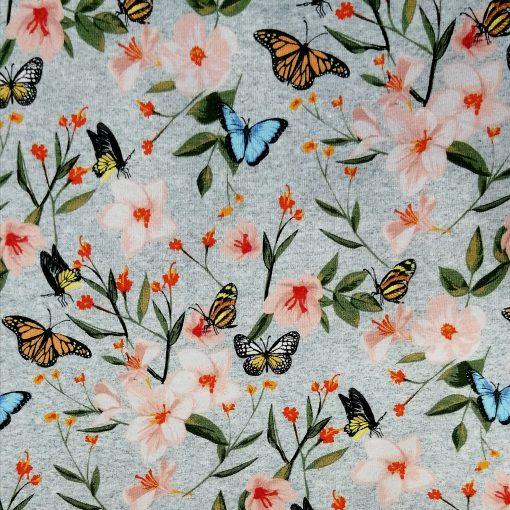 tela de punto de mariposas